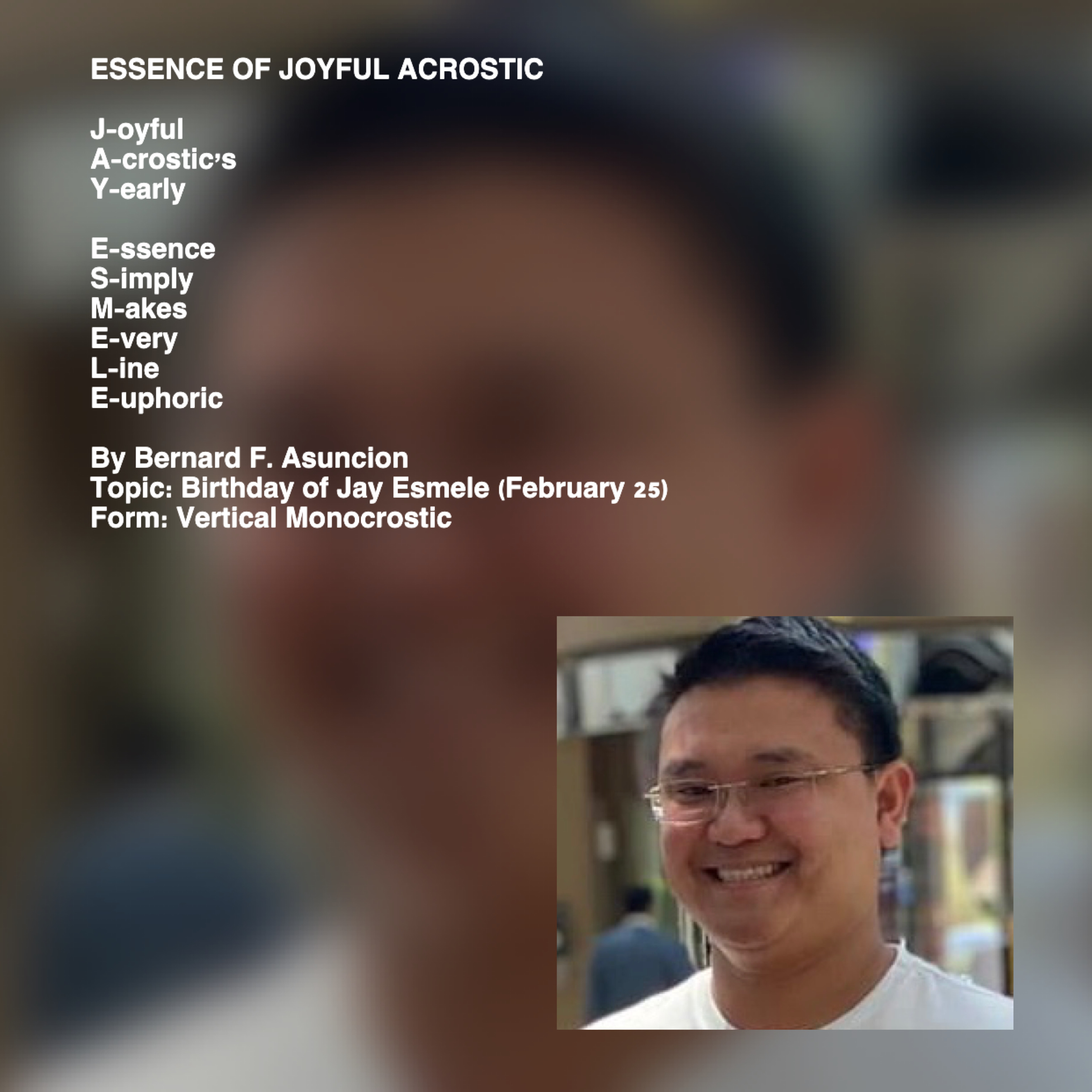 Essence Of Joyful Acrostic