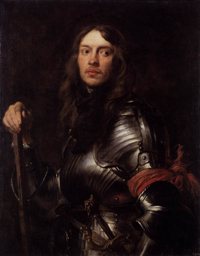 Man In Armour With Red Scarf