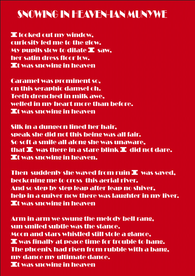 Red dress poem about death
