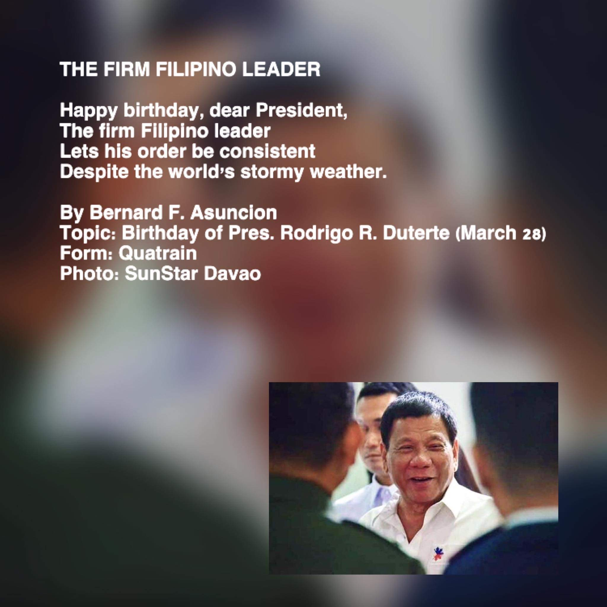 The Firm Filipino Leader
