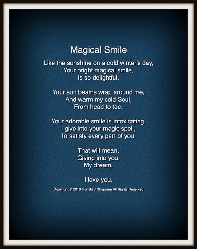 Magical Smile Poem by Ronald Chapman - Poem Hunter