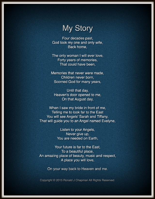 My Story Poem by Ronald Chapman - Poem Hunter