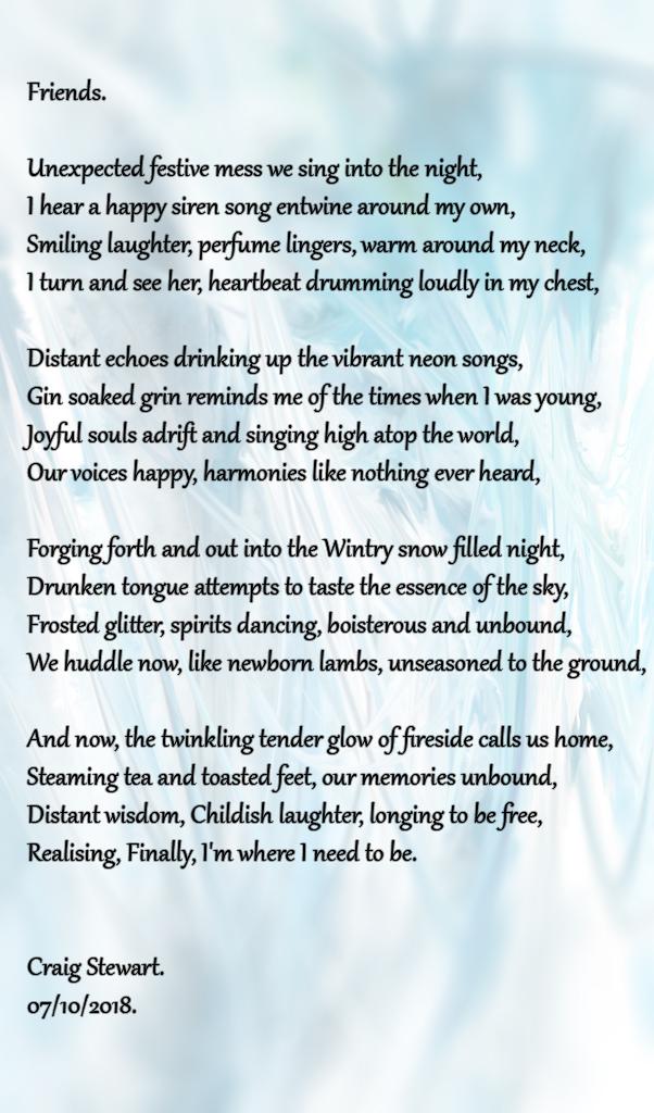 Friends  Poem by Craig Stewart - Poem Hunter