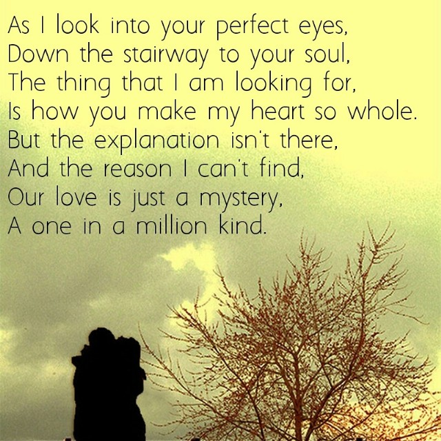 One In A Million Love Poem By Shane Sangster Poem Hunter
