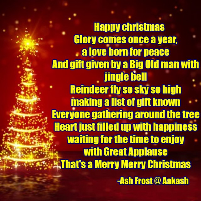 Christmas Poem by Aakash kannan - Poem Hunter