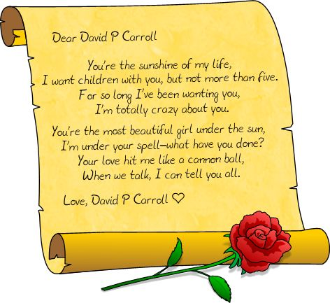 Our Hearts Forever In True Love Poem by David P Carroll ...