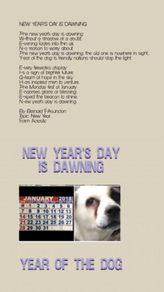 New Year\'s Day Is Dawning - 2018 Poem by Bernard F. Asuncion - Poem ...