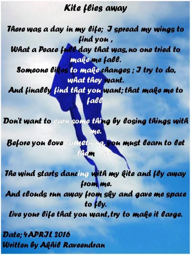 Kite Flies Away Poem By Akhil Raveendran Poem Hunter Comments