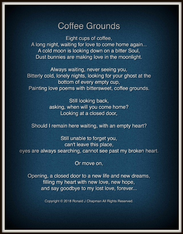 Coffee Grounds Poem By Ronald Chapman Poem Hunter