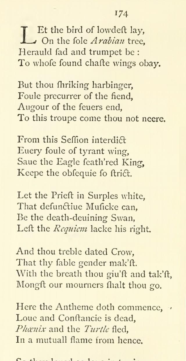Phœnixet Tourtereau (Shakespeare)