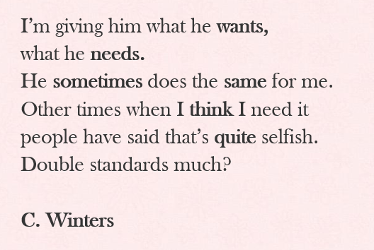 double standards poem by cece winters poem hunter