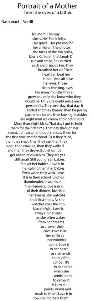 Portrait Of A Mother, From The Eyes Of A Father Poem by