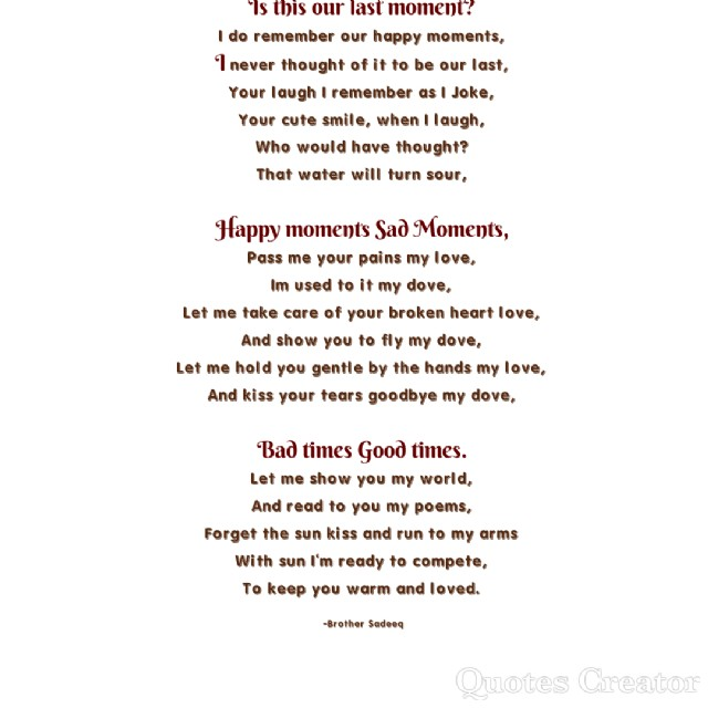 Is It Our Last Moment Poem By Abubakar Aliyu Poem Hunter