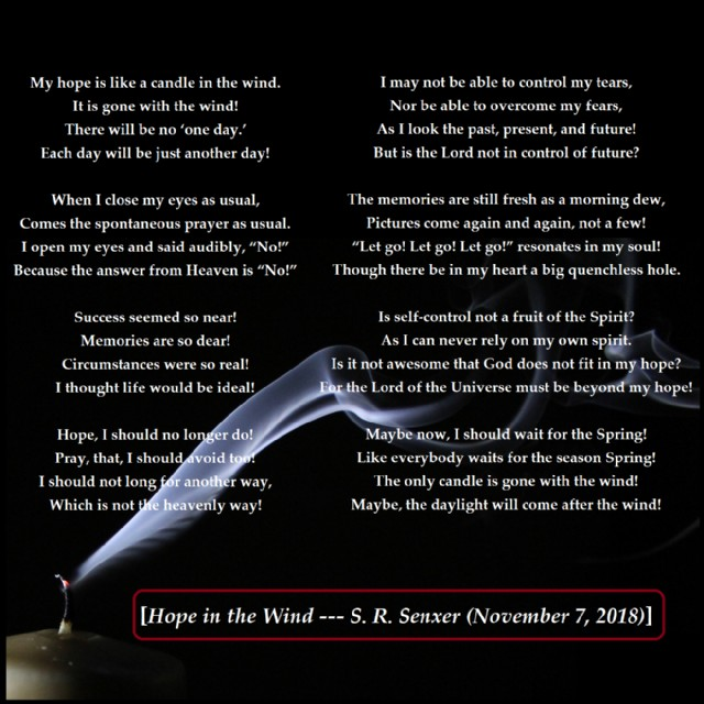 Hope In The Wind Poem by Solomon Senxer - Poem Hunter Comments
