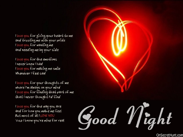 i love you goodnight poems
