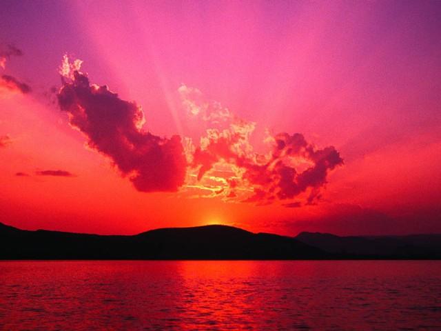 A Pretty Sunrise Versus A Pretty Sunset