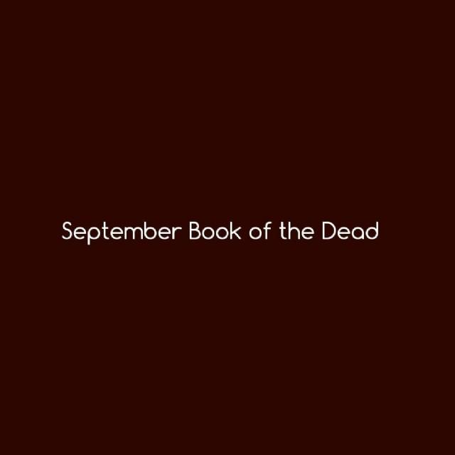 September Book Of The Dead