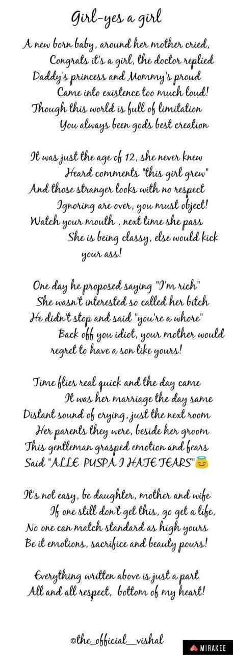 Girl-Yes A Girl Poem by THE OFFICIAL VISHAL - Poem Hunter
