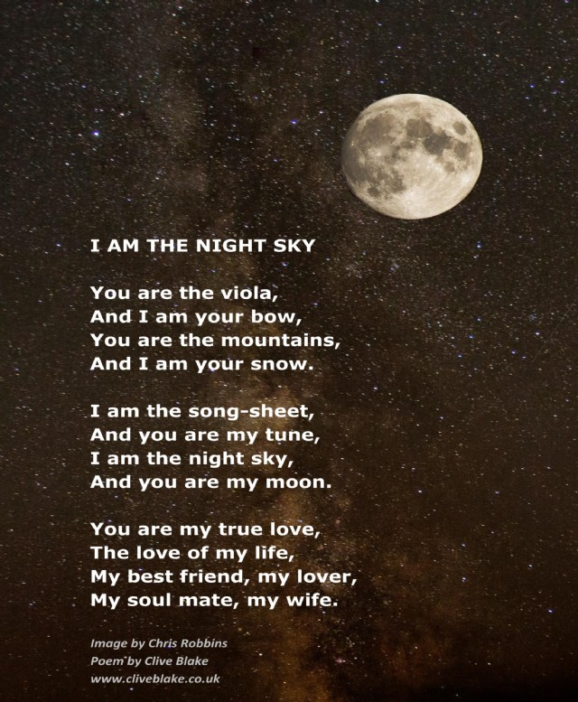 I Am The Night Sky Poem By Clive Blake Poem Hunter