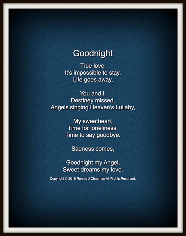 Night poems good sweet Good Night