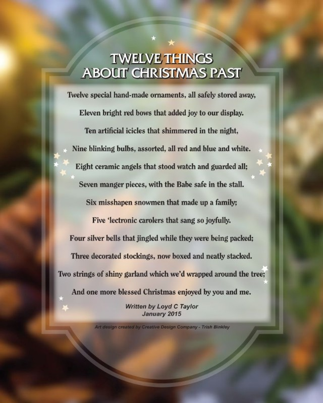 A Christmas Poem: Twelve Things About Christmas Past