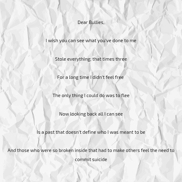 Dear Bullies Poem By Brian Sazo Poem Hunter