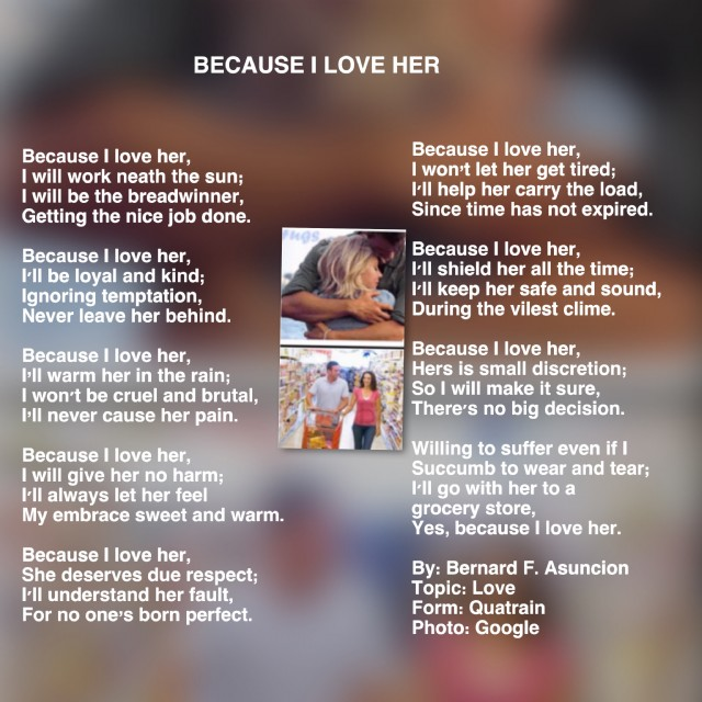 Because I Love Her Poem by Bernard F  Asuncion - Poem Hunter
