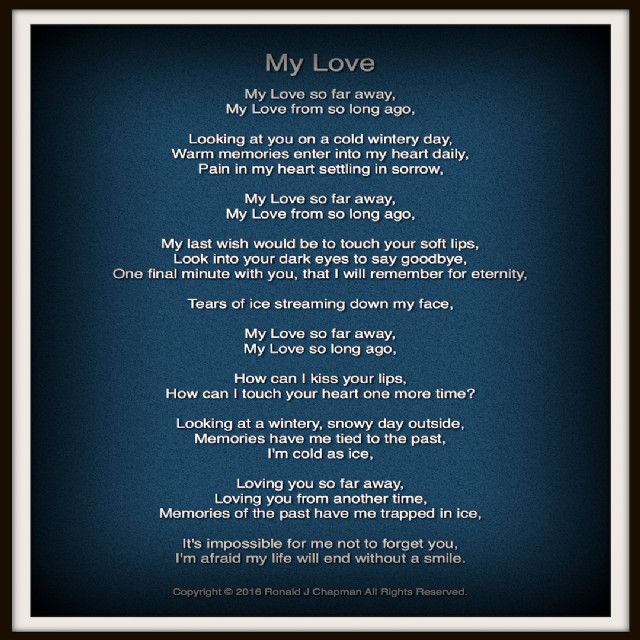 My Love Poem by Ronald Chapman - Poem Hunter
