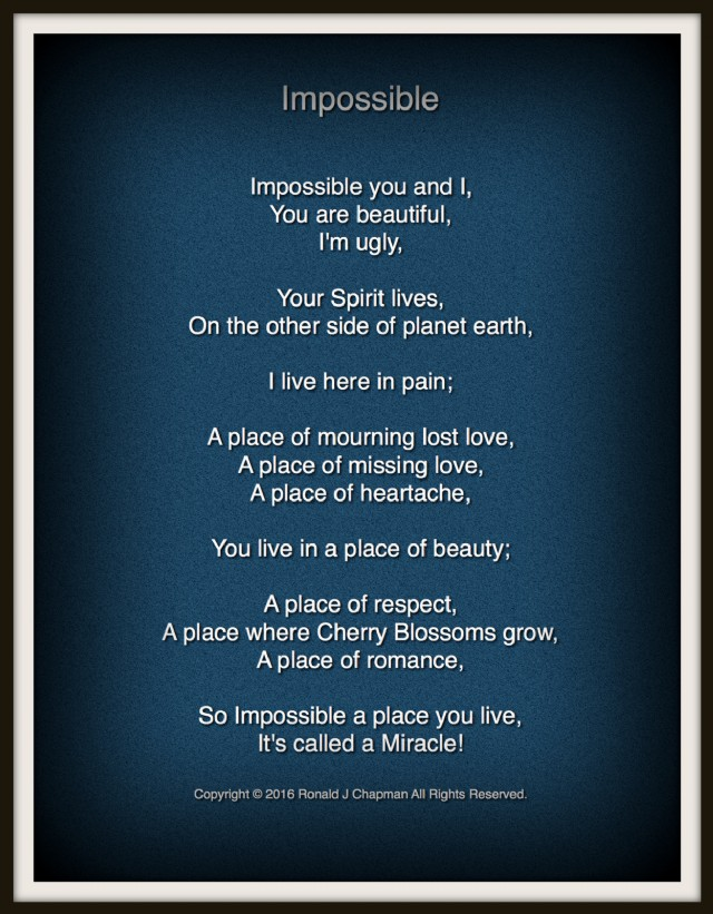Impossible Poem By Ronald Chapman Poem Hunter - Impossible poem