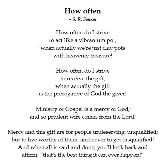 How Often Poem By Solomon Senxer Poem Hunter
