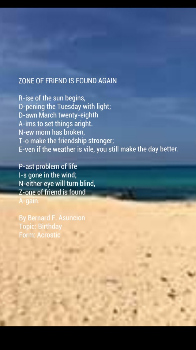 Zone Of Friend Is Found Again