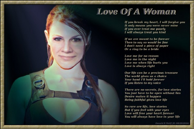 Love Of A Woman Poem By Donald R Wolff Jr Poem Hunter