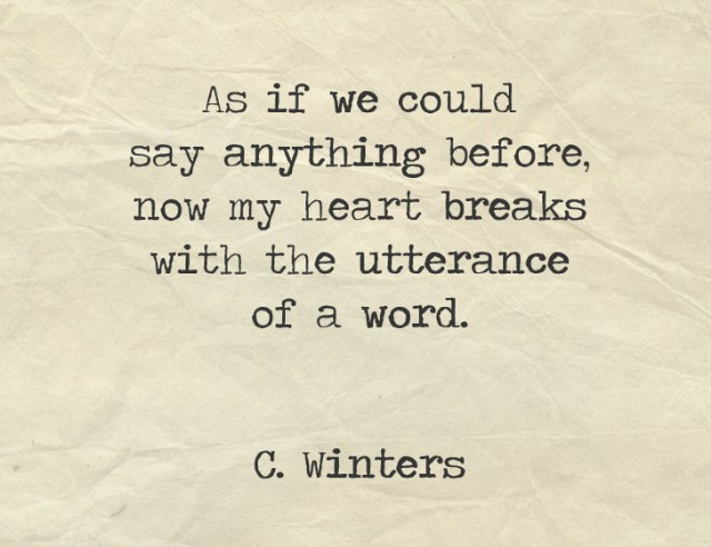Heart Breaks Poem By Cece Winters Poem Hunter