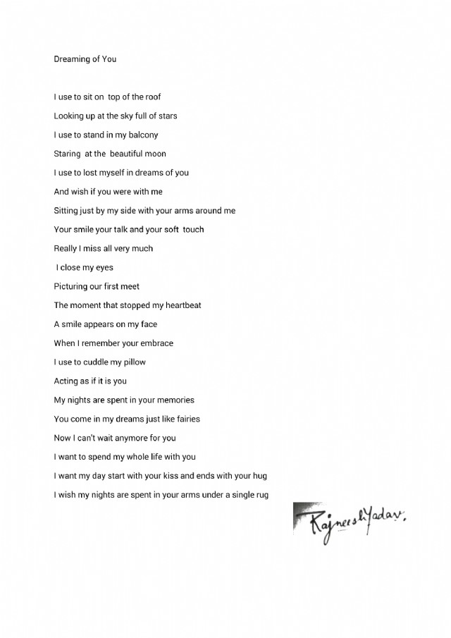 i dream about you poem
