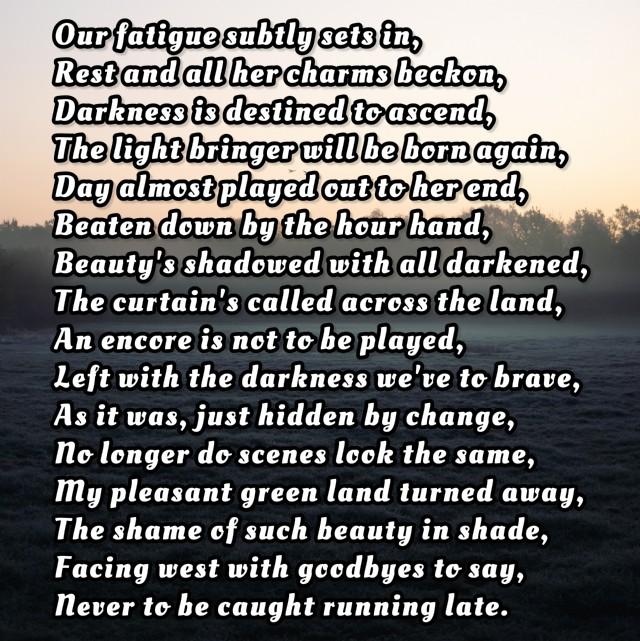 Dusk, Poem On Nature