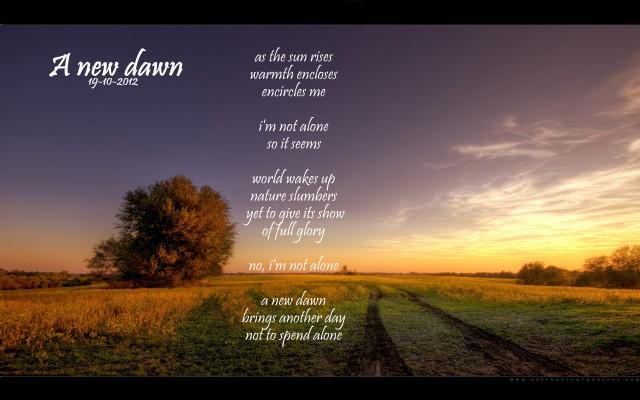 A New Dawn - Poem by Lianne 1990