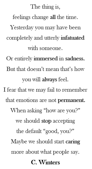 Poems about how you feel about someone
