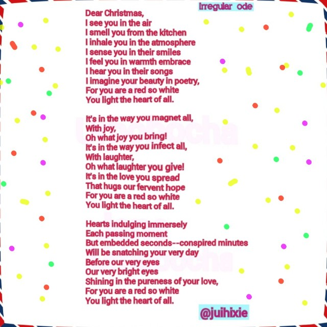 Dear Christmas Poem by Jane Urhobocha