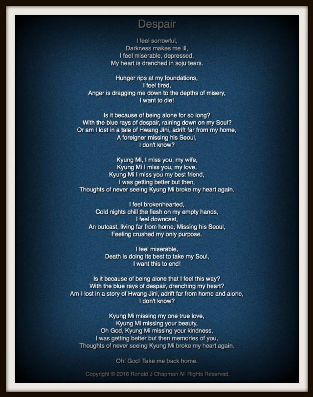 Despair Poem by Ronald Chapman - Poem Hunter