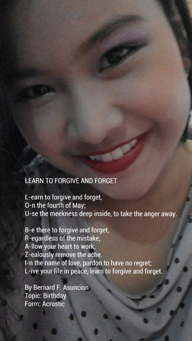 how to learn to forgive and forget