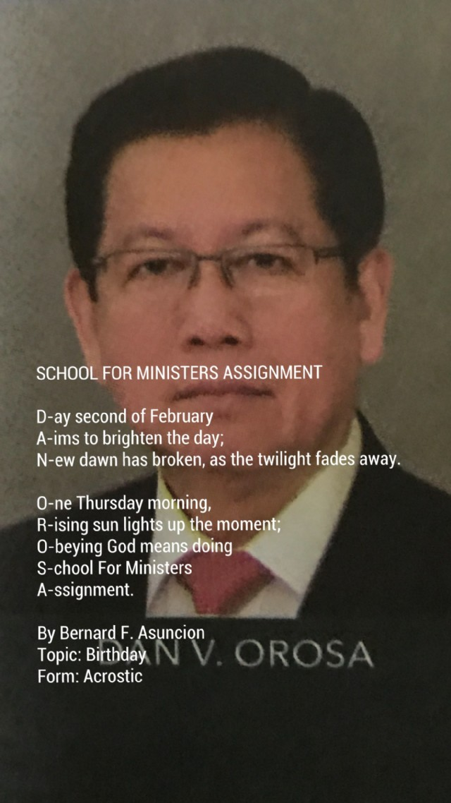 School For Ministers Assignment