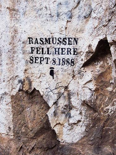 Rasmussen Fell Here