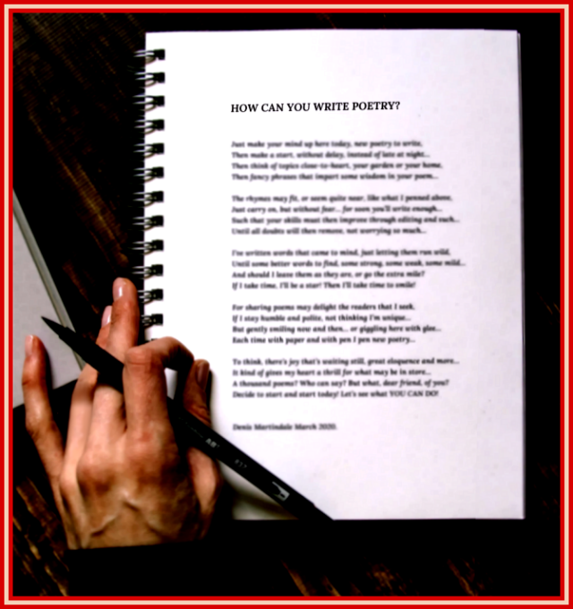 How Can You Write Poetry?