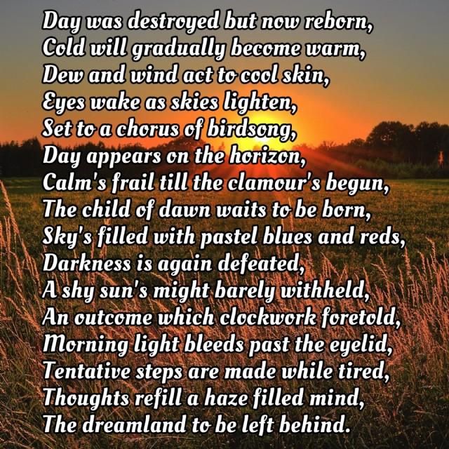 Dawn, Poem On Nature