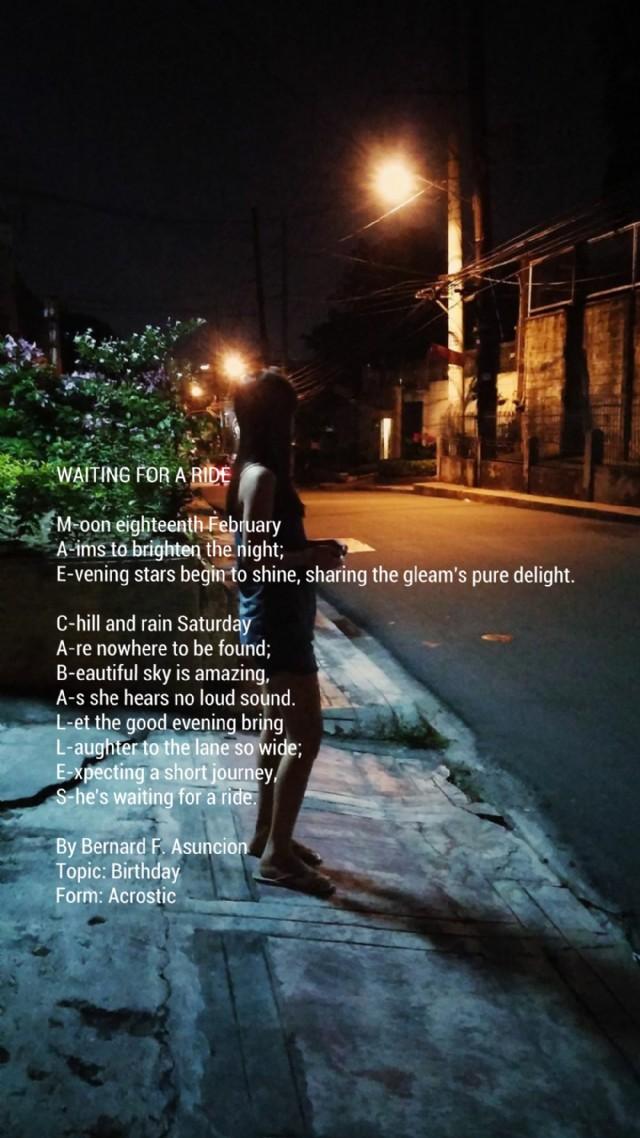 the night ride poem