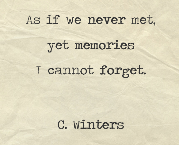 Never Met Poem By Cece Winters Poem Hunter