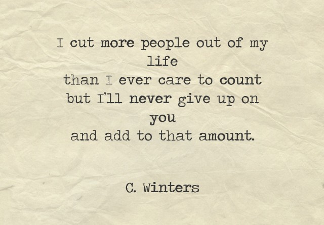 Never Giving Up On You Poem By Cece Winters Poem Hunter
