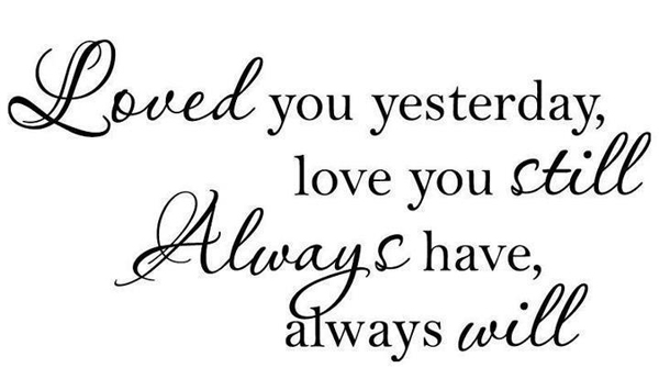 Loved You Yesterday Love You Still Quote: I Miss You Beautiful Poem By Michael P. McParland