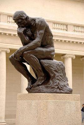 Rodin's...The Thinker(An Ekphrastic Offering!)