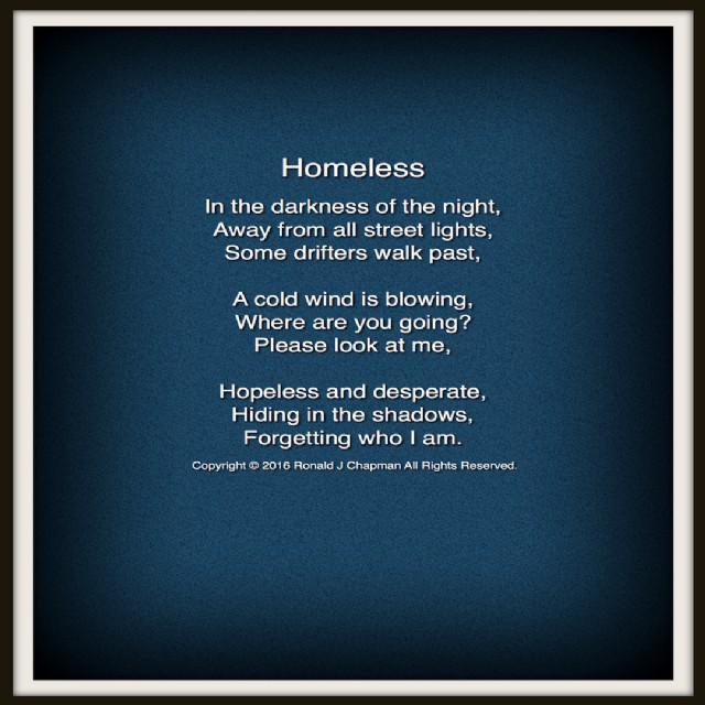homeless poem by ronald chapman   poem hunter